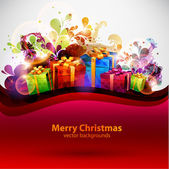 Christmas abstract poster