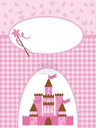 Princess card with Magic Castle