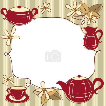 Tarjeta de menú de té