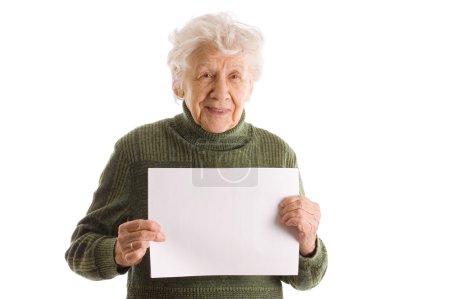 Foto de La anciana aislada sobre fondo blanco - Imagen libre de derechos