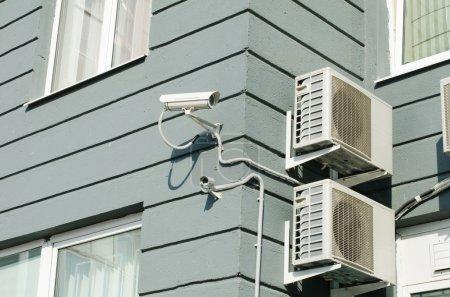Videocamera on modern office building
