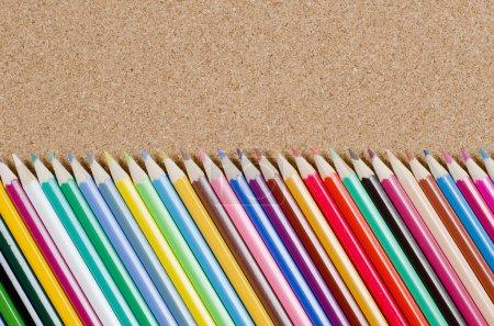 Colour pencils on