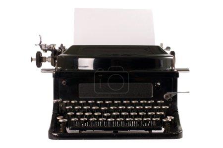 Photo pour Vieille machine à écrire, isolé sur fond blanc - image libre de droit