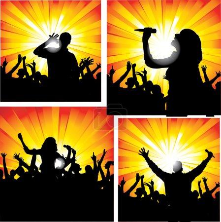 Illustration pour Chanteurs - image libre de droit