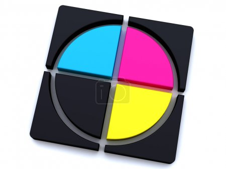 Print colors cmyk symbol