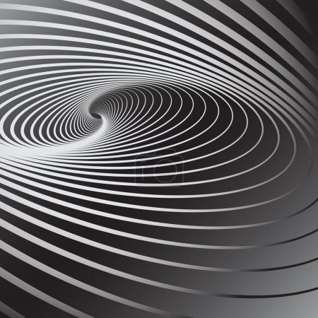 Illustration for Abstract background with swirl movement effect. Vector art. - Royalty Free Image