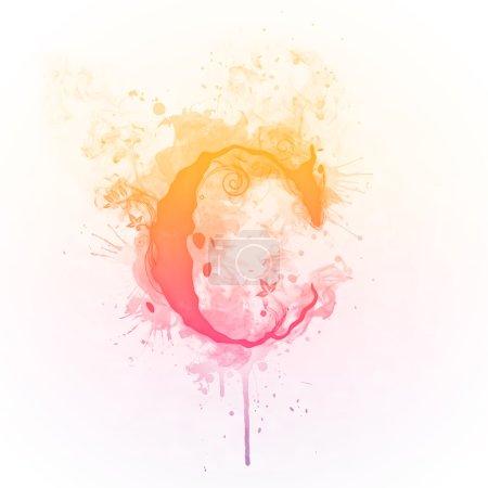 Sunny Swirl Letter C