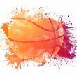 Basketball ball in Watrcolor Isolated on White Bac...