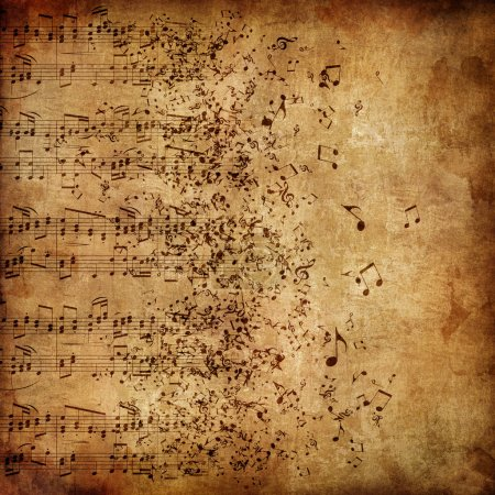 Photo for Old Paper. Retro Music Texture Background. - Royalty Free Image