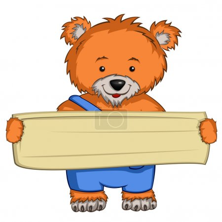 Illustration for Cartoon Character Bear Isolated on White Background. Vector. - Royalty Free Image