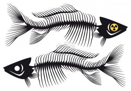 Fishbones, vector