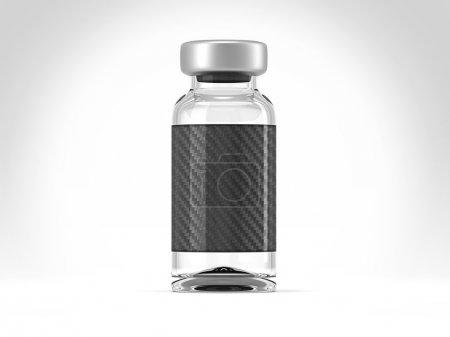 Photo pour Ampoule médicale unique sur fond de projecteur studio - image libre de droit