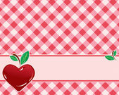 Checkered background in red tones decorated with heart-shaped cherries Vector