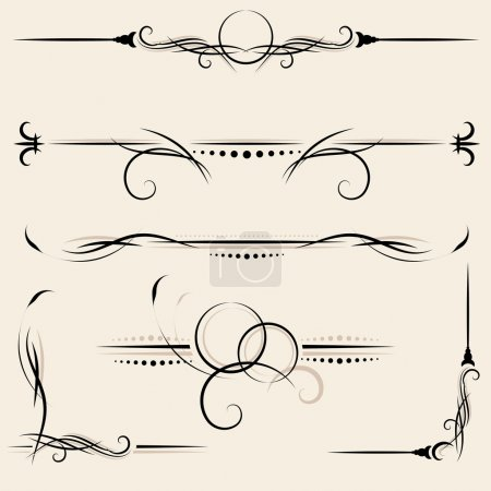 Illustration for Vector set: design elements and page decoration - Royalty Free Image