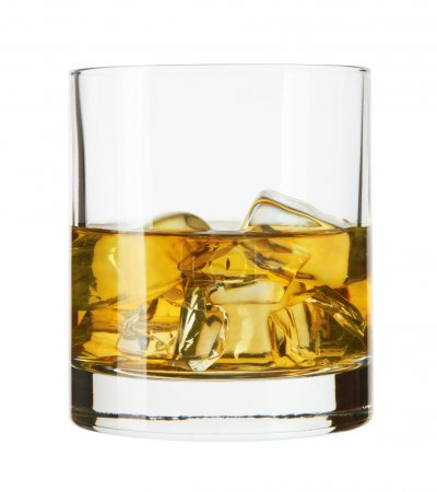 Photo for Whiskey glass. Isolated on white with reflection - Royalty Free Image