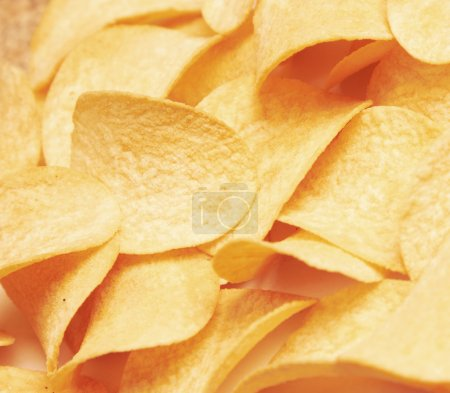 Photo for Potato chips background - Royalty Free Image