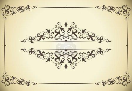 Illustration pour Cadre vintage pour décoration de mariage et carte d'invitation . - image libre de droit