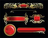 Set vector golden royal design