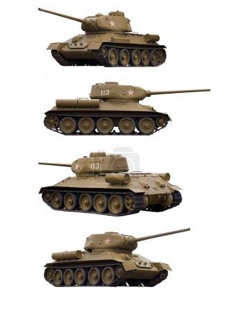 Soviet tanks T-34-85