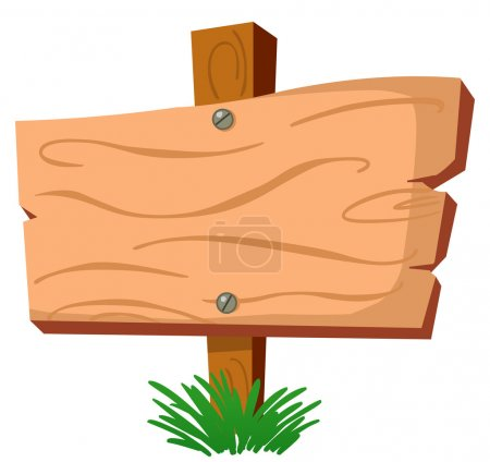 Illustration for Blank wood sign - Royalty Free Image