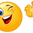 Winking emoticon showing ok sign...
