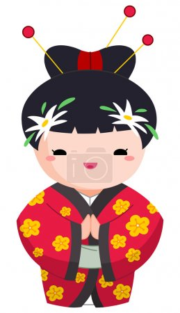 Illustration for Japanese girl - Royalty Free Image