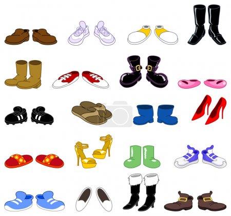 Cartoon shoes set
