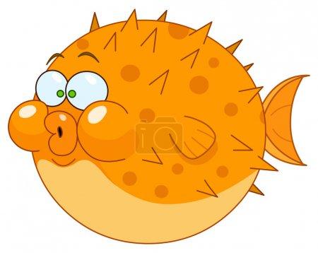 Cartoon blowfish...