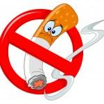 No smoking sign cartoon...