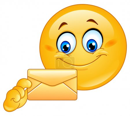 Illustration for Emoticon with envelope - Royalty Free Image