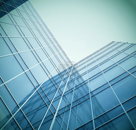 Photo for Glass building perspective view - Royalty Free Image