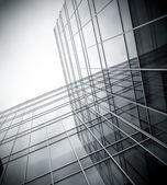 Black texture of glass skyscraper perspective view