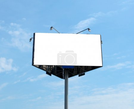 Photo for Triangular big blank billboard outdoor - Royalty Free Image