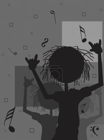 musical notes background with