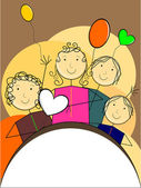 vector wallpaper for children's day
