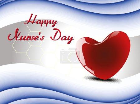 Vector illustration for happy nurse's day celebration