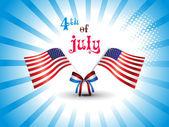 Vector illustration for us independence day celebration