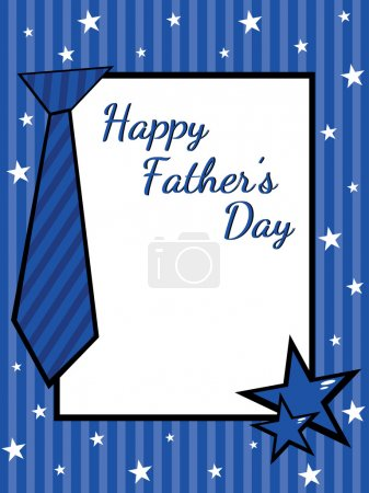 Illustration for Greeting card for happy father's day celebration - Royalty Free Image