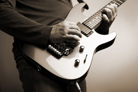 Photo for Rock guitarist - Royalty Free Image