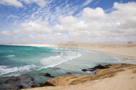 Photo pour Belle vue panoramique sur la côte de Boa Vista - image libre de droit