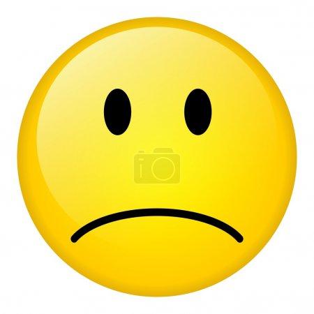 Photo for Sad symbol over white background - Royalty Free Image