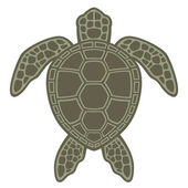 Vector graphic illustration of a Green Sea Turtle