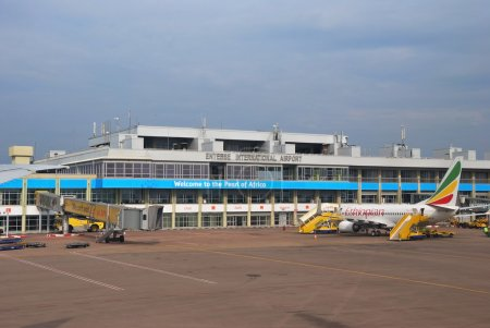 ENTEBBE - AUG 31: International Airport is the pri...
