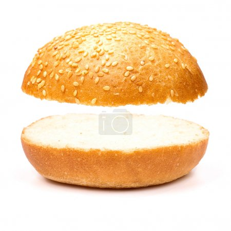Sandwich without a stuffing isolated on the white ...