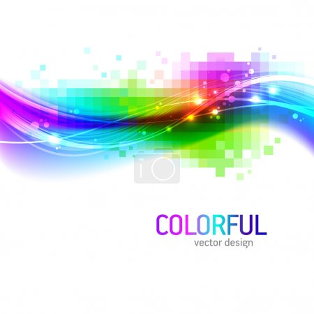 Illustration for Abstract vector background with colorful wave - Royalty Free Image