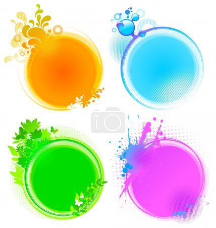 Illustration for Color round vector frames - Royalty Free Image