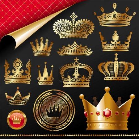 Illustration pour Élément de design royal Golden - image libre de droit