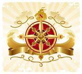 Adventures emblem with compass rose