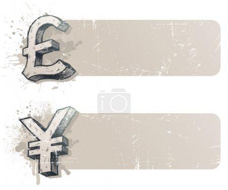Banner mit Währungszeichen