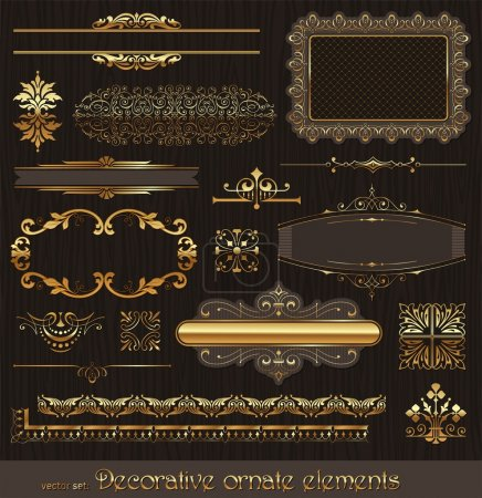 Illustration for Vector decorative design elements & page deco - Royalty Free Image